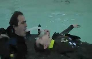 Rescue Diver Resuscitation Mask Open Water Oral Nasal